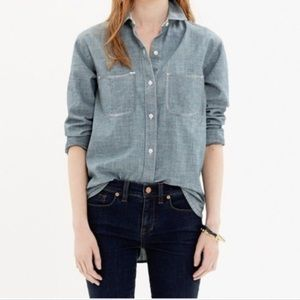 Madewell the perfect chambray shirt